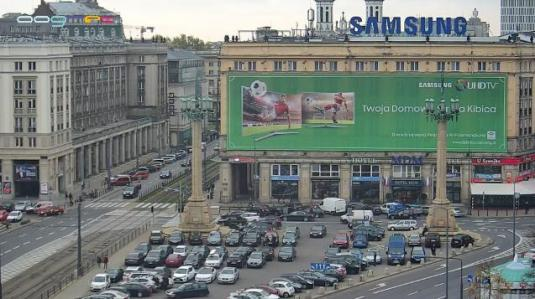 Constitution Square Warsaw Streaming Traffic Weather Web Cam Warsaw Poland
