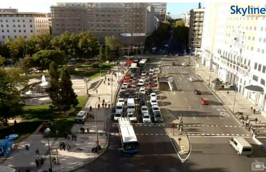 Plaza de Espana Madrid City Square Traffic Web Cam Madrid Spain