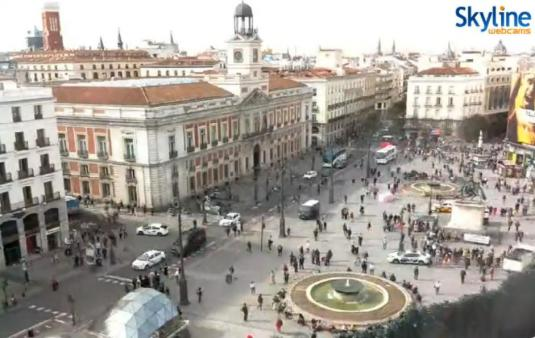Madrid Live Streaming Puerta del Sol Square Traiic Weather Web Cam Madrid Spain