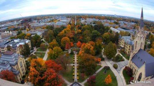 University of Notre Dame Live Campus Webcam Indiana