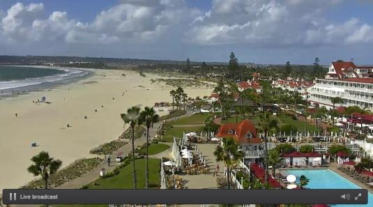 Coronado Island Seaside Resort Beach Weather Web Cam San Diego California