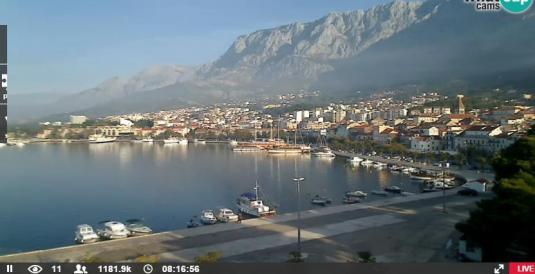 Makarska Seaside Resort Holiday Weather Webcam Croatia