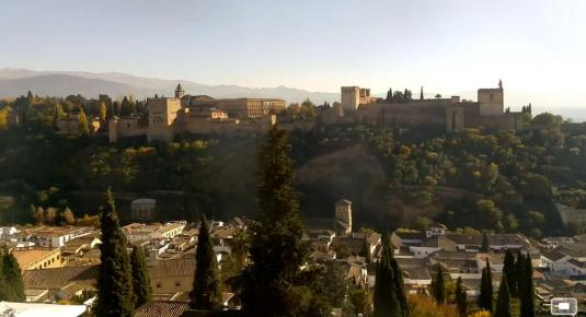 Alhambra Palace Live Streaming Granada Weather Web Cam Spain