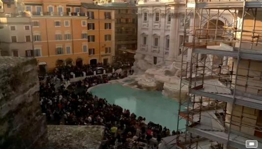 Trevi Fountain Live Streaming Webcam Trevi District Rome Italy