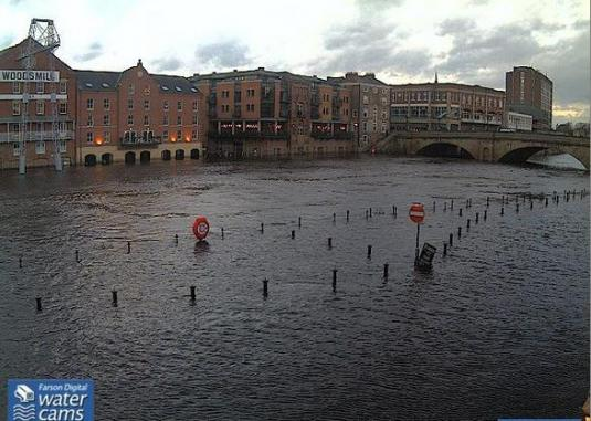 City of York Live River Ouse Flooding Weather Web Cam North Yorkshire England