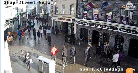 Galway High Street People Watching Web Cam City of Galway Ireland