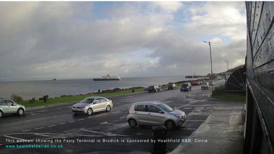 Isle of Arran Weather Weather Web Cam Brodick Ferry Port Terminal Firth of Clyde