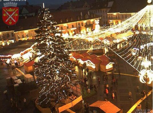Sibiu Christmas Market Weather Webcam City of Sibiu Romania