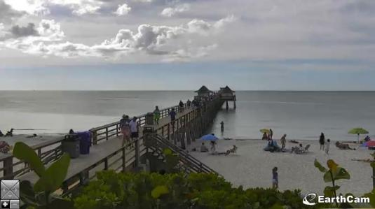 Naples Fishing Pier Live Beach Weather Web Cam Collier County Florida
