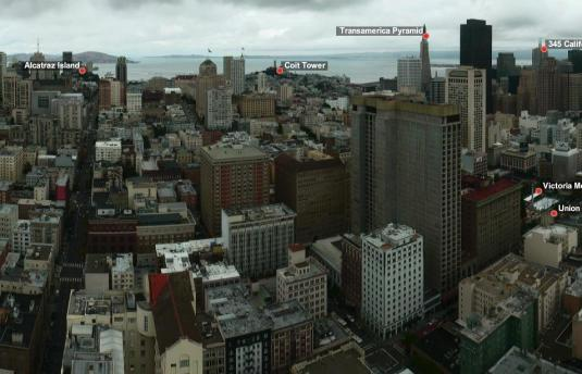 San Francisco Downtown Skyscrapers weather webcam Northern California