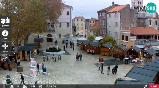 City of Zadar Petar Zoranic Square Web Cam Zadar City Croatia