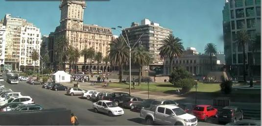 Plaza Independencia City Square Traffic Weather Webcam Montevideo City Uruguay