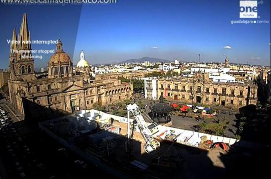 Guadalajara City Square Traffic Weather Webcam Jalisco Mexico