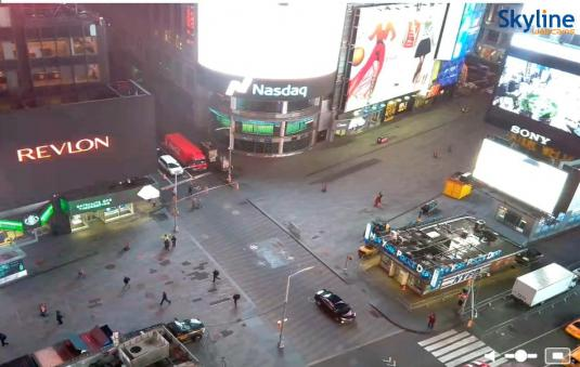 Times Square Big Apple Streaming Web Cam New York City New York