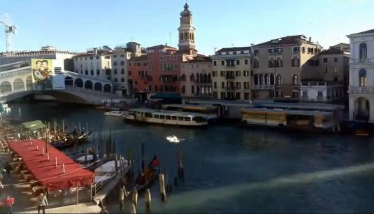 Rialto Bridge Grand Canal Web Cam Venice Italy