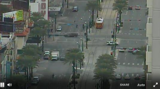 Canal Street French Quarter Traffic Weather Web Cam New Orleans