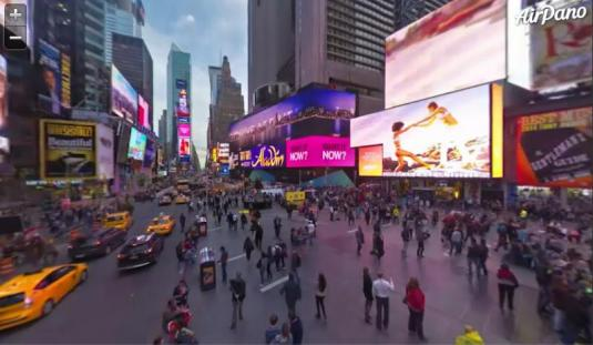Times Square Live Birds Eye View Streaming Video 360 Degree Panorama Cam New York City