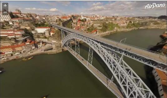 City of Porto Live 360-Degree Panorama Streaming Video HD Cam Portugal
