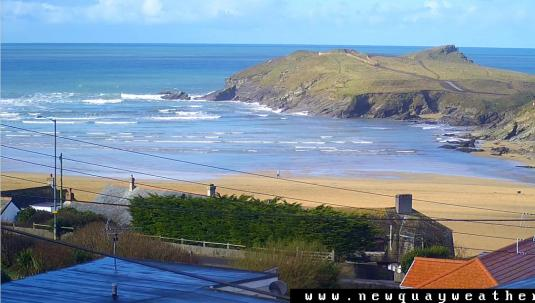 Porth Beach Surfing Weather Web Cam Newquay Cornwall