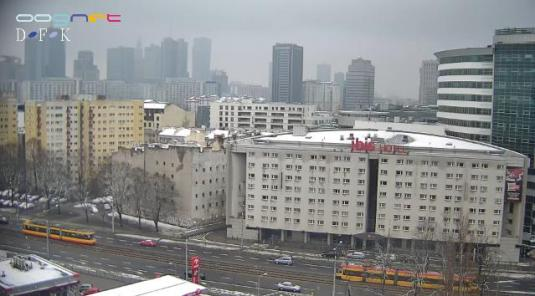 Warsaw Solidarity Avenue Traffic Weather Web Cam City of Warsaw Poland