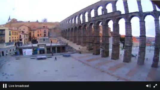 Segovia Azoguejo Square Weather Web Cam Spain