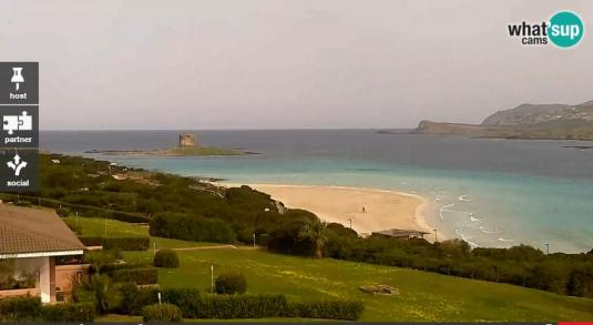 La Pelosa Beach Weather Web Cam Stintino Sardinia Italy