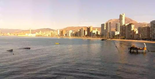 Benidorm Holiday Beach Weather Web Cam Alicante Spain