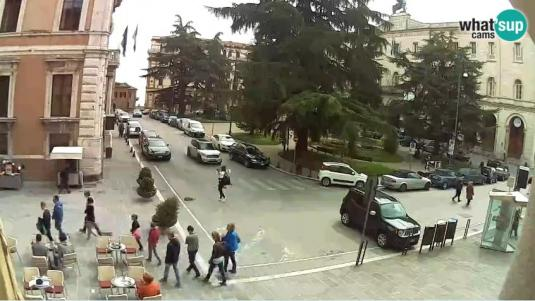 Italia Square City of Perugia People Watching Web Cam Italy