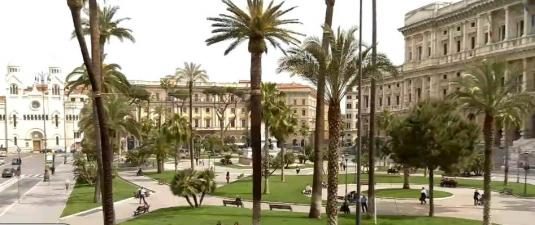 Piazza Cavour Square Web Cam City of Rome Italy