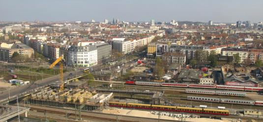 Berlin Warschauer Straße Railway Station Web Cam Berlin Germany