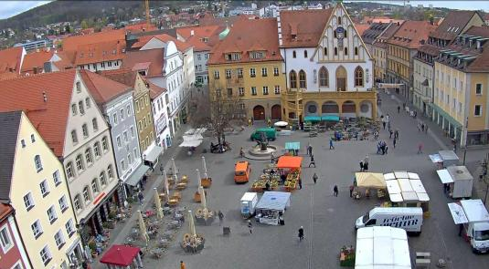Amberg Town Square Weather Web Cam Amburg Bavaria Germany