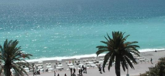 City of Nice Holiday Beach Weather Web Cam French Riviera South France