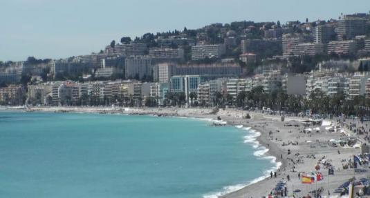 Bay of Angels Beach Weather Web Cam City of Nice South France