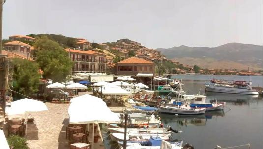 Island of Lesbos Holiday Weather Web Cam Mithymna Greece