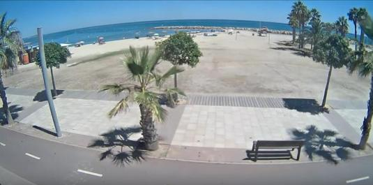 Cambrils Seaside Resort Beach Weather Web Cam Catalonia Spain