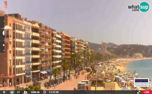 Lloret de Mar Live Promenade Beach Weather Web Cam Costa Brava Spain