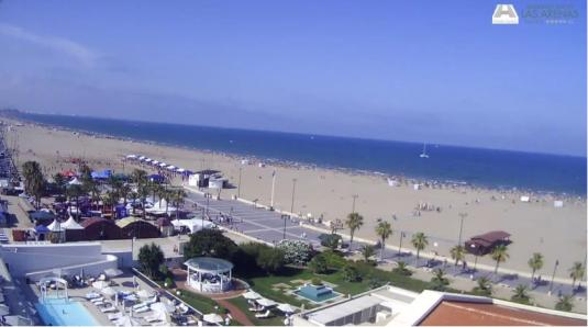 Valencia Live Playa De La Malvarrosa Holiday Beach Weather Web Cam Spain