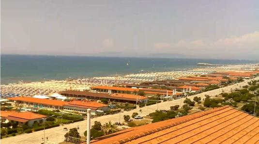 Viareggio Beach Resort Weather Web Cam City of Viareggio Northern Tuscany Italy