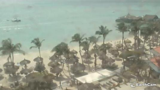 Palm Beach Seaside Beach Weather Web Cam Aruba Island Caribbean