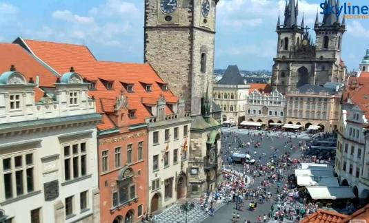 Old Town Square City of Prague Streaming Web Cam Prague Czech Republic