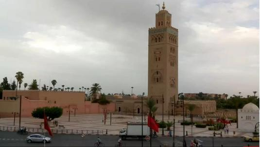Marrakesh Live Koutoubia Mosque Web Cam Marrakesh Morocco
