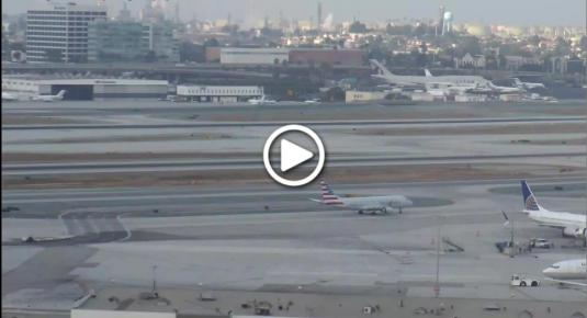 LA International Airport Runway 25 Panorama Weather Web Cam Los Angeles