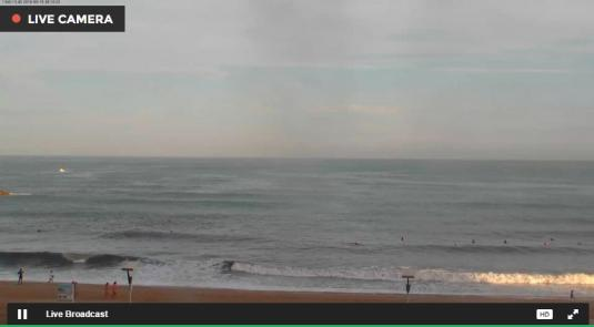 Biarritz Grande Plage Beach Surfing Web Cam South West France