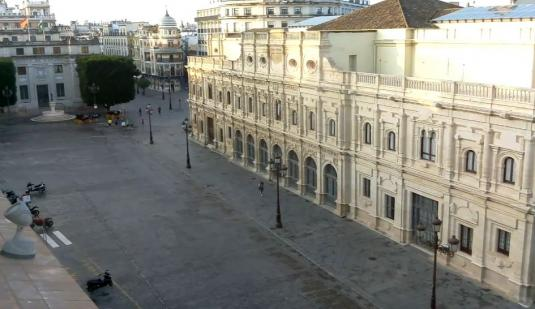 Seville City Live Plaza de San Francisco City Square Web Cam Seville Spain