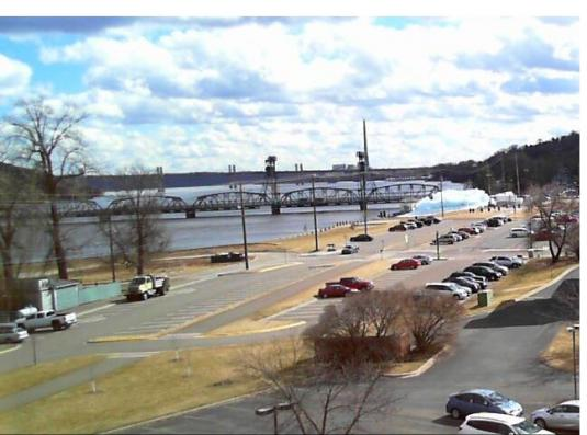 Stillwater Lift Bridge St. Croix River Stillwater City Weather Web Cam Minnesota