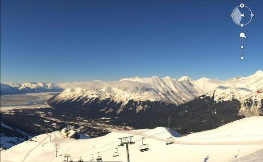 Alyeska Skiing Resort Ski Slopes 360 panorama Skiing Weather Web Cam Alaska