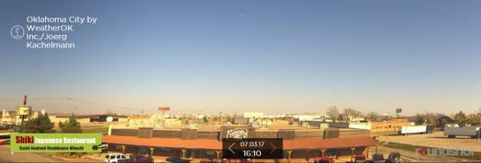 Oklahoma City Live 360 Panorama Weather Web Cam U.S. state of Oklahoma.