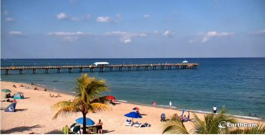 Lauderdale-by-the-Sea Beach Pier Holiday Weather Web Cam Florida