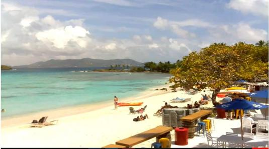 St Thomas Live Sapphire Holiday Resort Beach Weather Web Cam US Virgin Islands