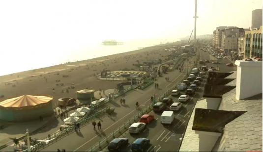 Brighton Seafront Beach Weather Web Cam Brighton Seaside Resort East Sussex